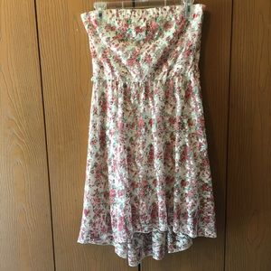 3/$25 Deb Floral Strapless High-Low Dress